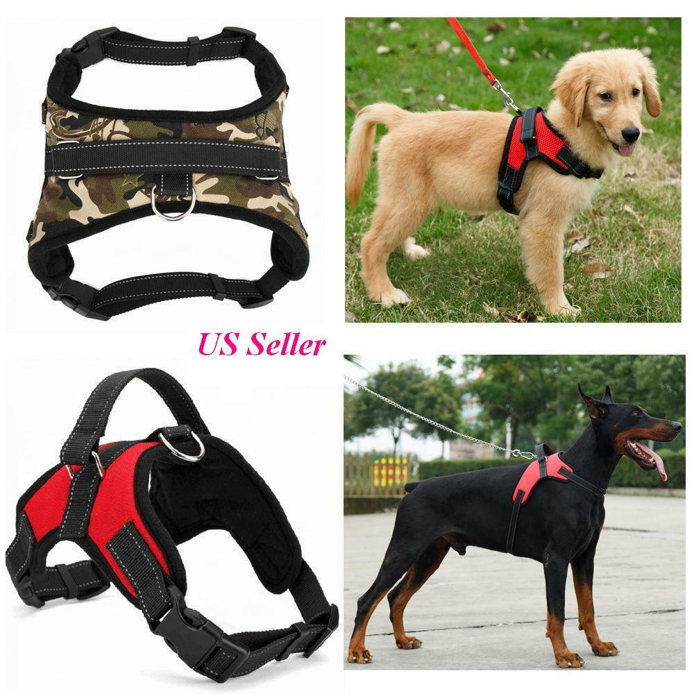 Adjustable Pet Control Harness Collar Safety Strap Mesh