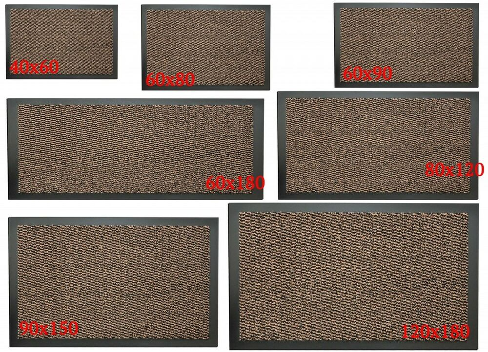 Large Non Slip Brown Entrance Floor Door Mat Heavy Duty