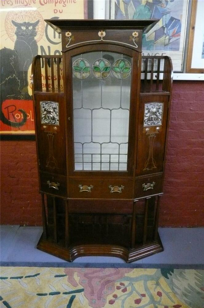 Art nouveau cabinet and by wylie lochead ebay for 1890 kitchen cabinets