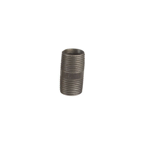Quot close black malleable gas pipe nipple fitting