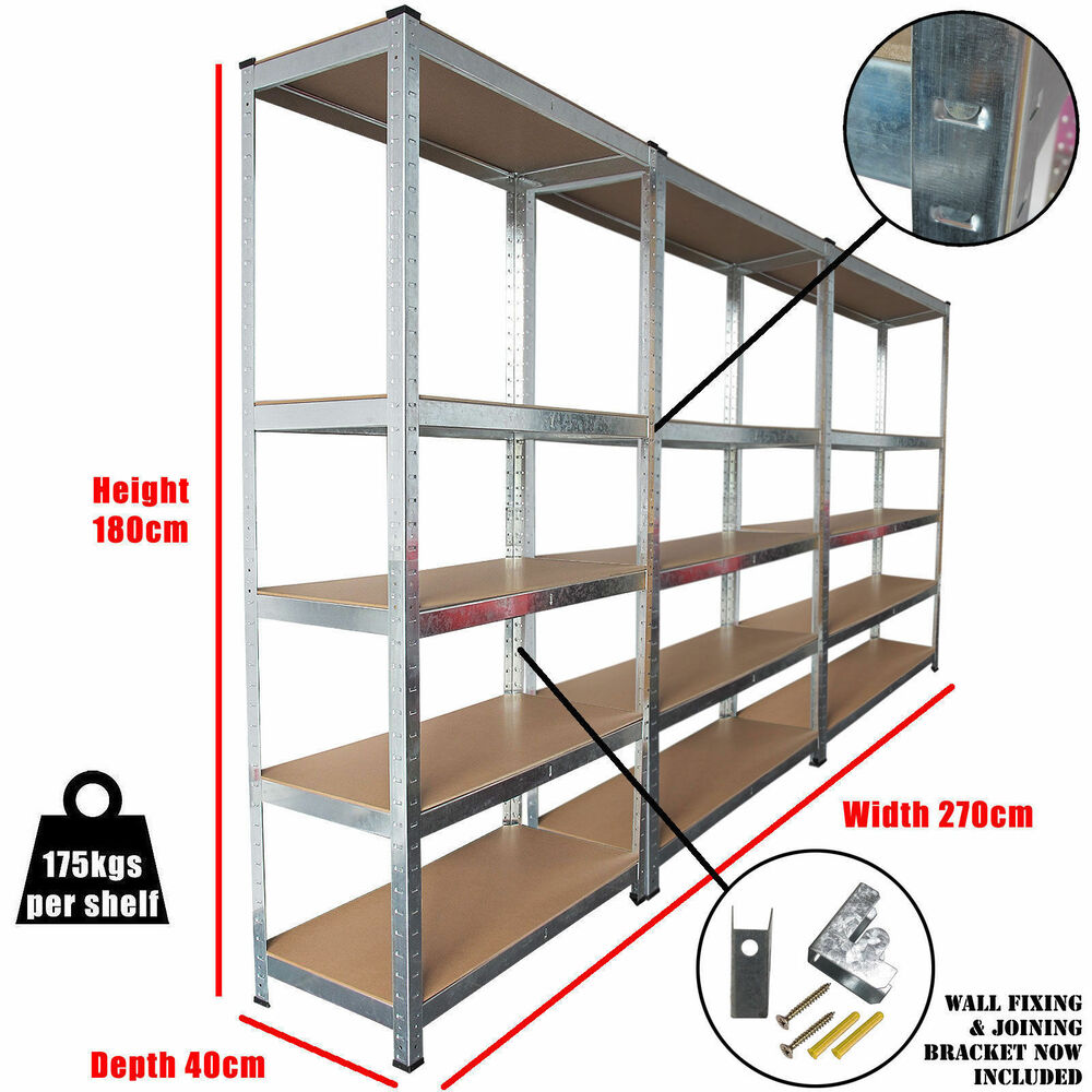 Heavy Duty Garage Storage Racks : Racking bays tier boltless garage shelving unit
