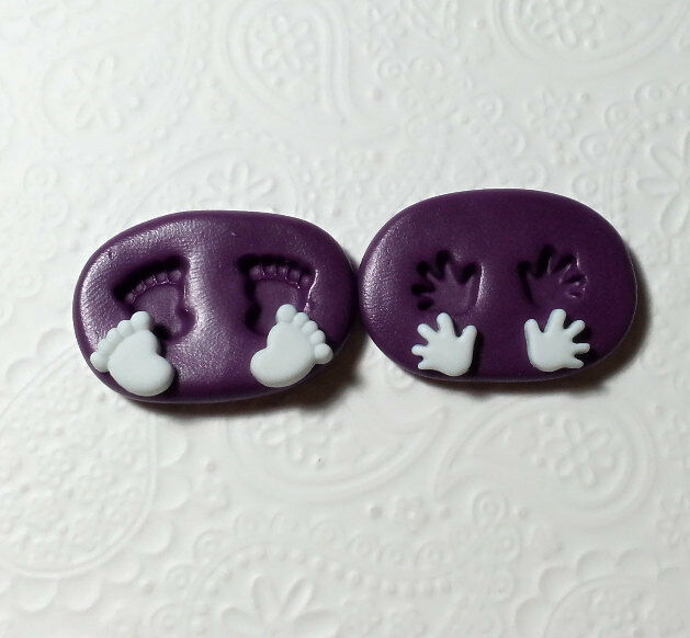 silicone mold tiny baby hands feet handprint footprint. Black Bedroom Furniture Sets. Home Design Ideas