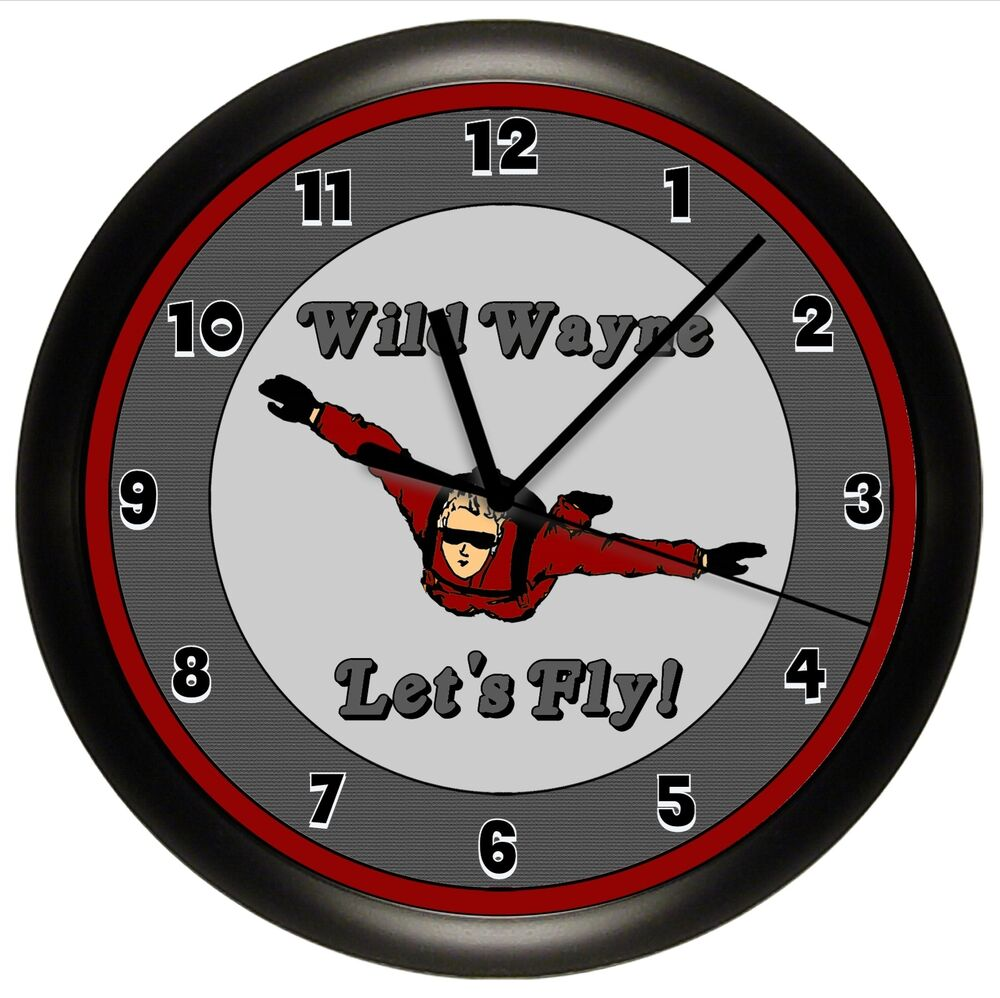 SKY DIVING WALL CLOCK DIVER JUMP PERSONALIZED AIRPLANE ...