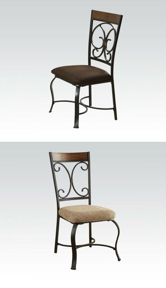 Kitchen dining room contemporary dining chairs in 2 colors cushion seat chair ebay - Cushioned dining room chairs ...