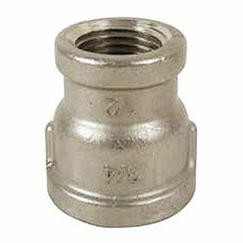 Stainless reducer coupling quot npt fits center