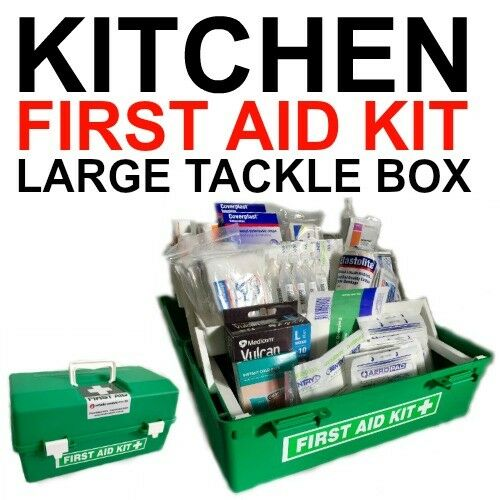 First aid kit large kitchen tackle box ohs whs cafe for First aid kits for restaurant kitchens