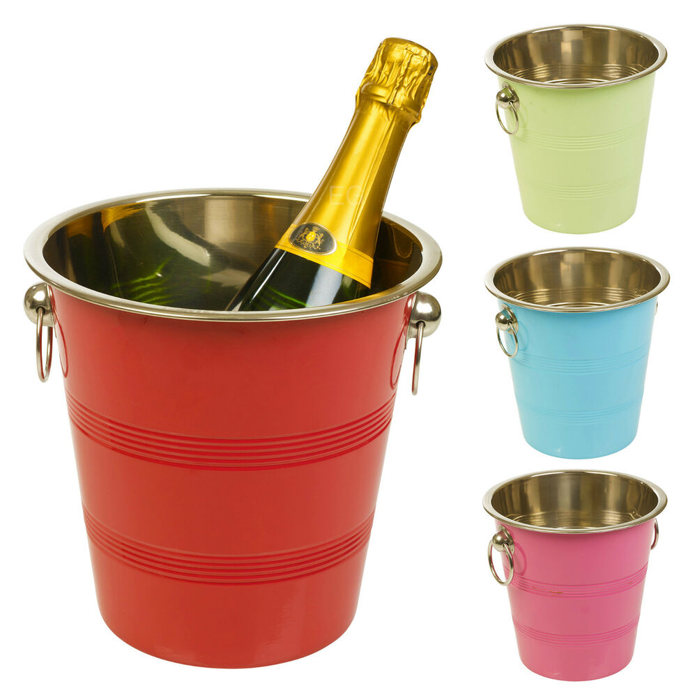 Metal Chic Champagne Ice Cooler Bucket Wine Drink Trough