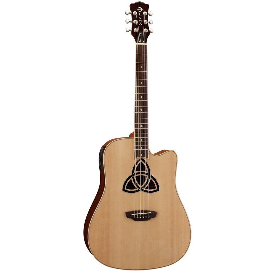 luna guitars trinity dreadnought 6 string acoustic electric guitar new 819998018818 ebay. Black Bedroom Furniture Sets. Home Design Ideas