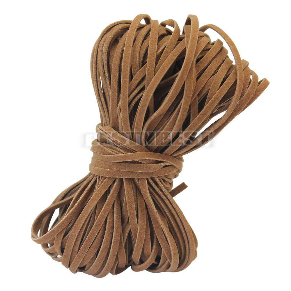brown flat pu leather cord 2mm string for jewelry making