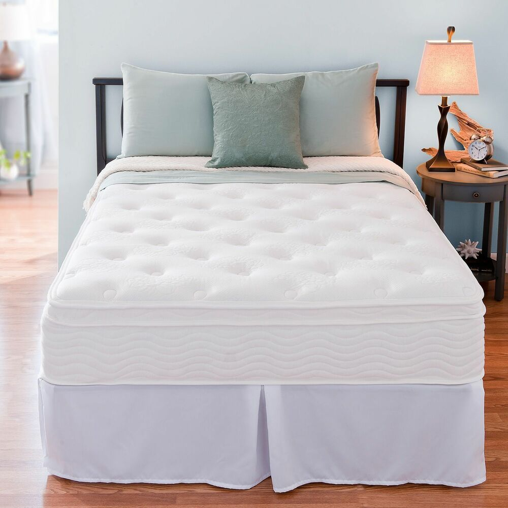 "Night Therapy Euro Box Top Spring Mattress Bedroom 12"" Night Therapy Euro Box Top Spring Mattress & Bed Frame ..."