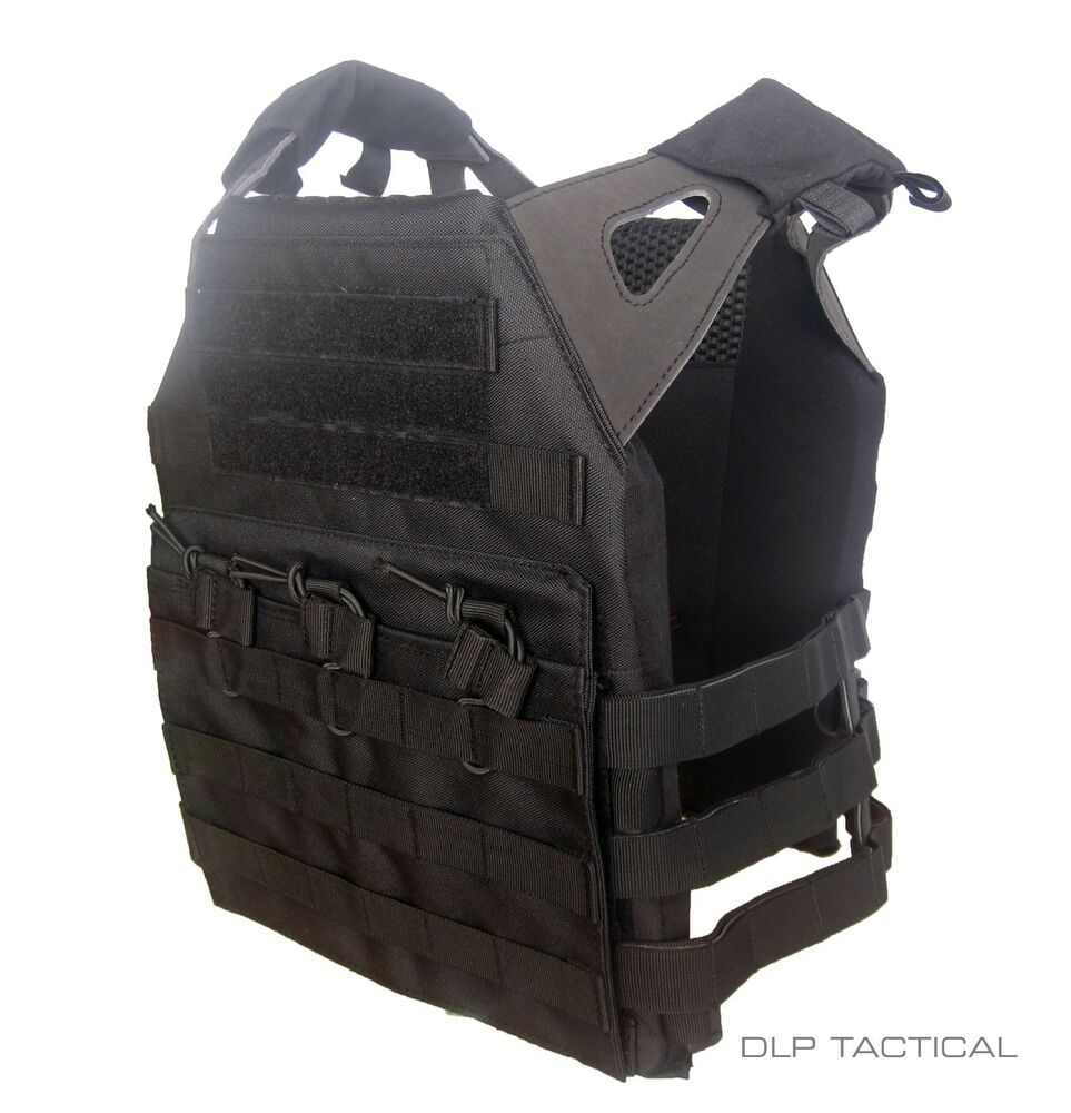 DLP Tactical WRAITH JPC MOLLE plate carrier vest in DELTA BLACK | eBay