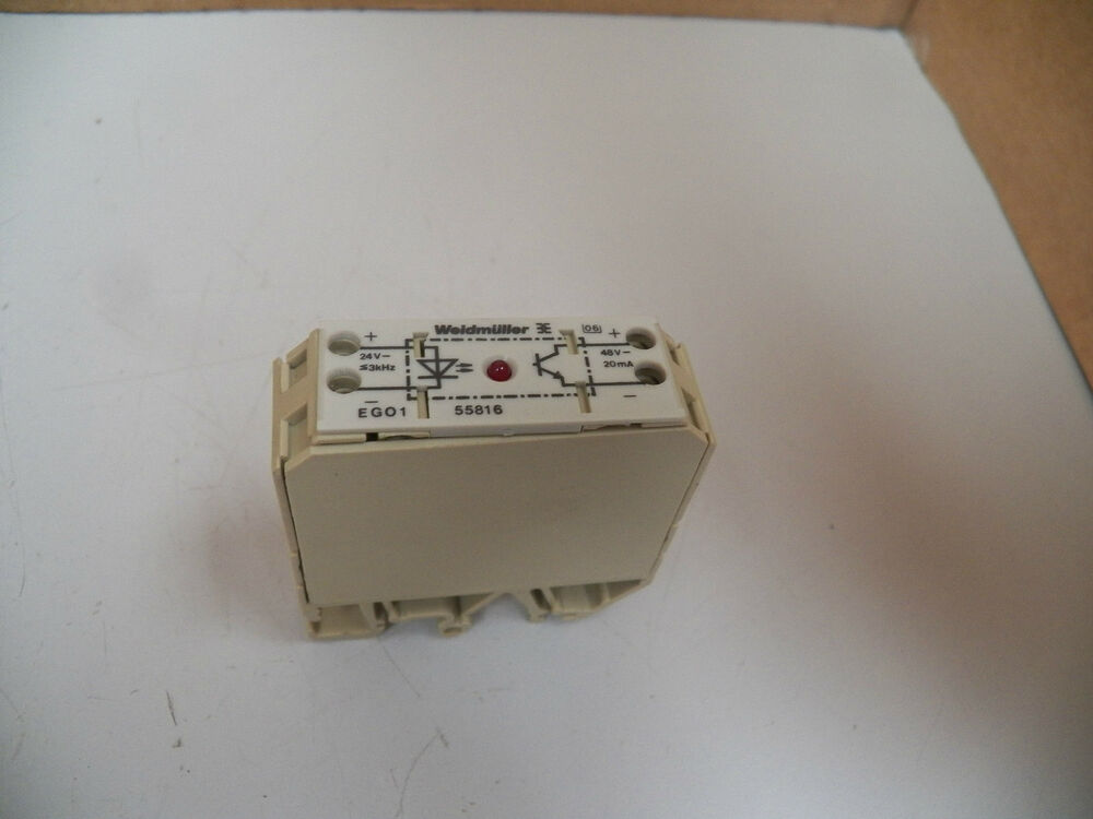 Weidmuller Solid State Relay Ego1 55816 Ego155816 48v 20ma