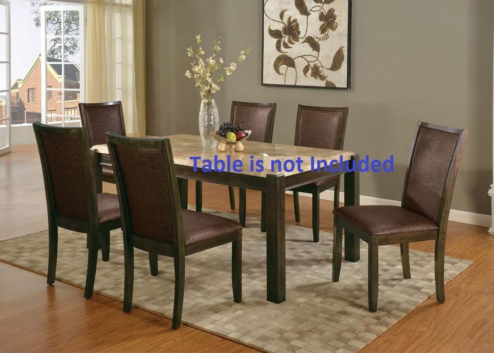 walnut finish dining side chairs set for dining room furniture ebay