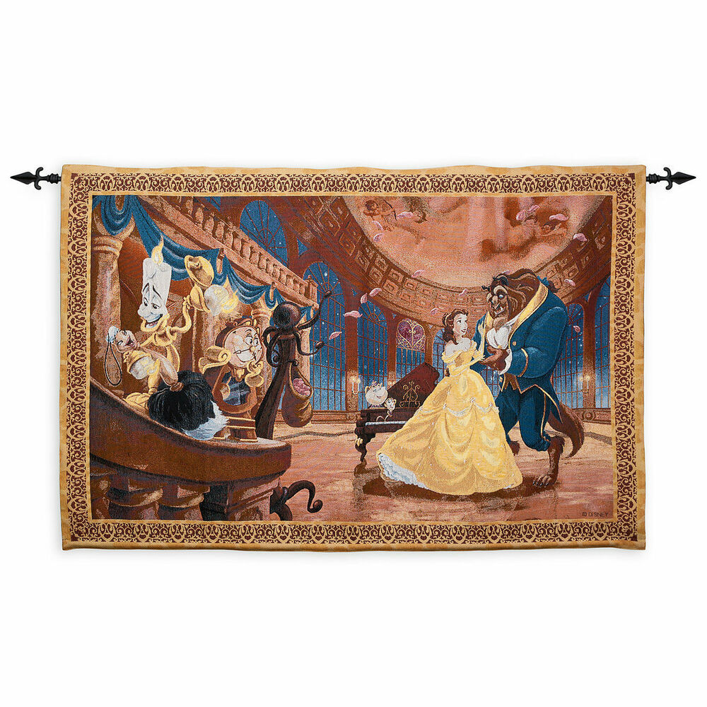Disney Parks Tapestry Beauty The Beast Tapestry Wall