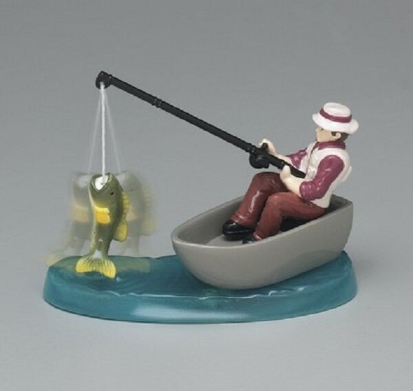 fishing cake toppers cake decorating topper kit fisherman in boat with fish 4084