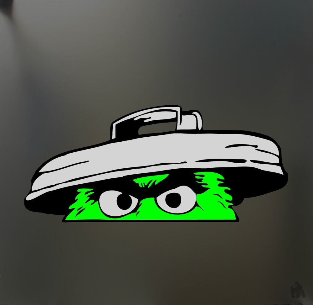 Oscar The Grouch Sticker Funny Jdm Lowered Low Car Truck