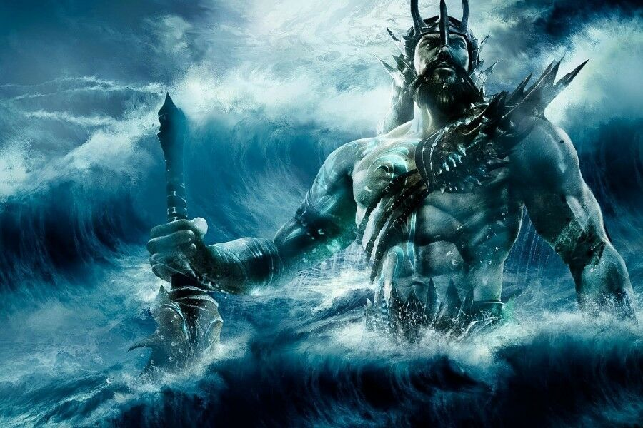 Poseidon The Greek God Of The Sea Fantasy Poster 60x90cm