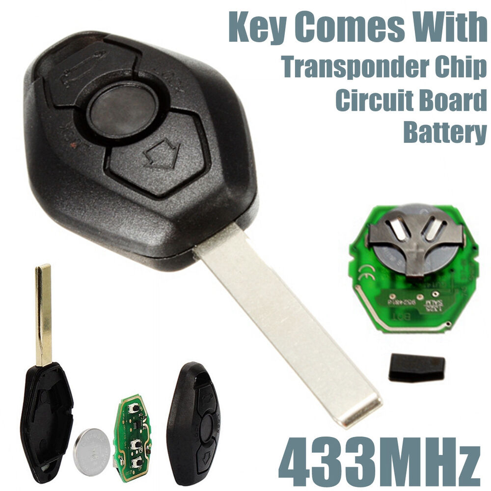Bmw Z3 Key Fob: Remote Key Fob 433Hz Replacement Uncut Blade For BMW E46
