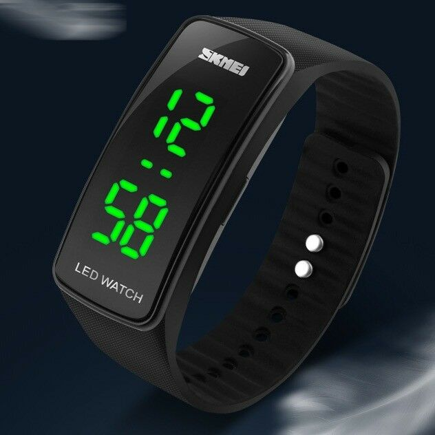 Fashion Square Men Womens Silicone Date LED Sport Digital ...