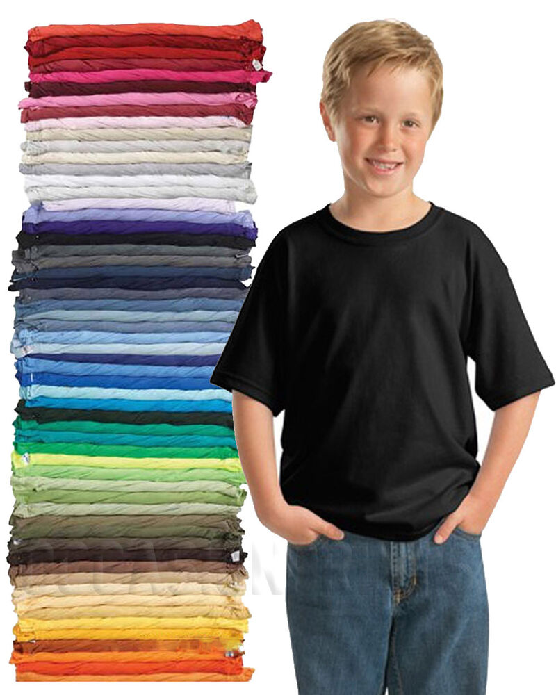32 blank youth kids plain t shirts lot bulk u mix colors for Kids t shirts in bulk