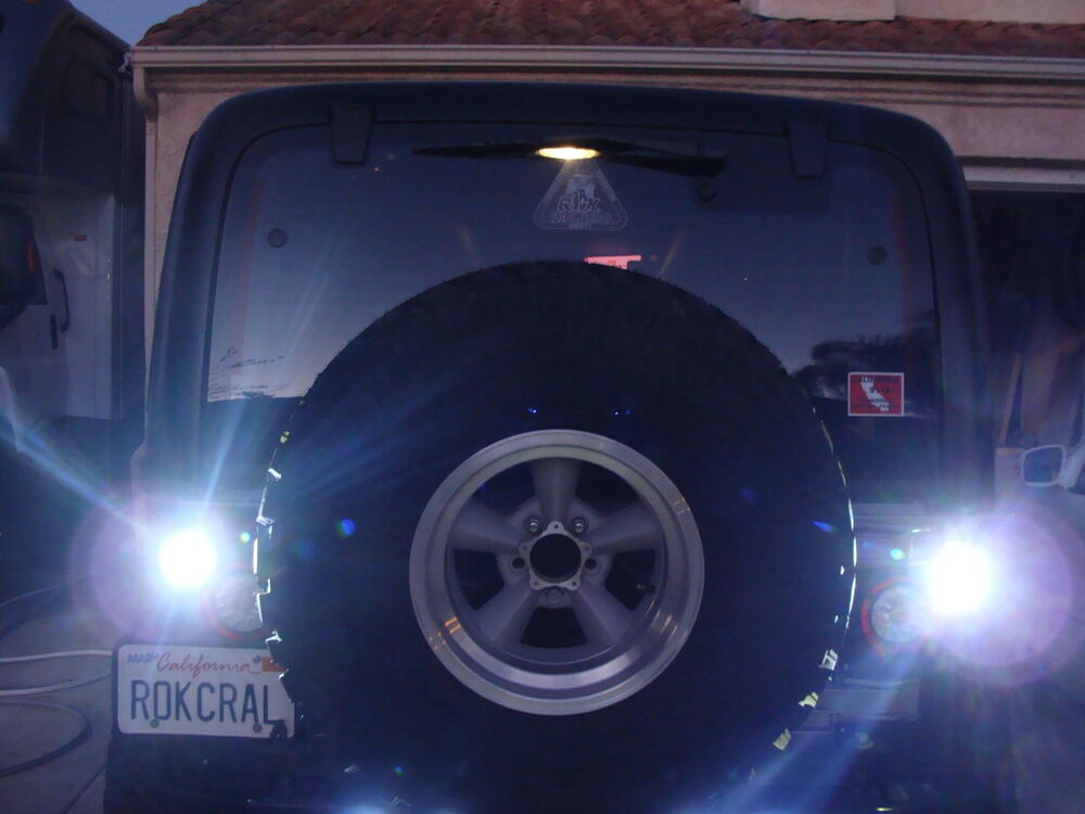 Jeep Wrangler Custom Parts >> Custom LED Back up Reverse Lights Bright White Includes 2 lights | eBay