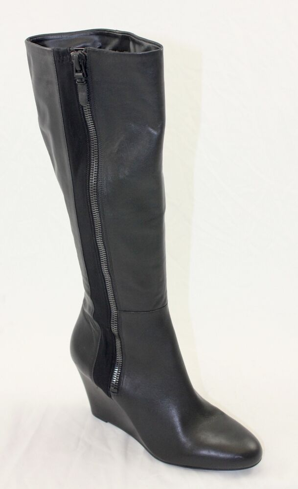 new via spiga felipa wedge knee high boots