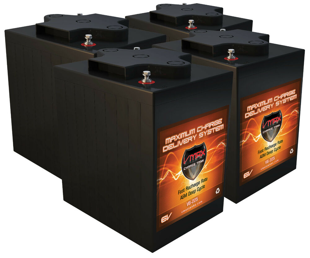western comp qty 4 mb6 golf cart batteries 24v agm 6 volt. Black Bedroom Furniture Sets. Home Design Ideas