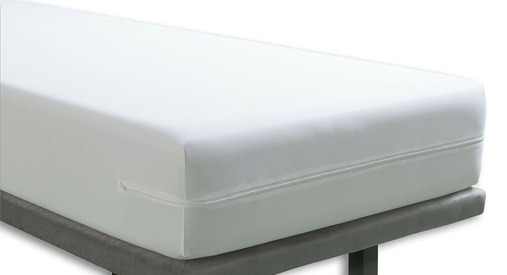 Fullcover Zipped Waterproof Mattress Cover Single 90cms X