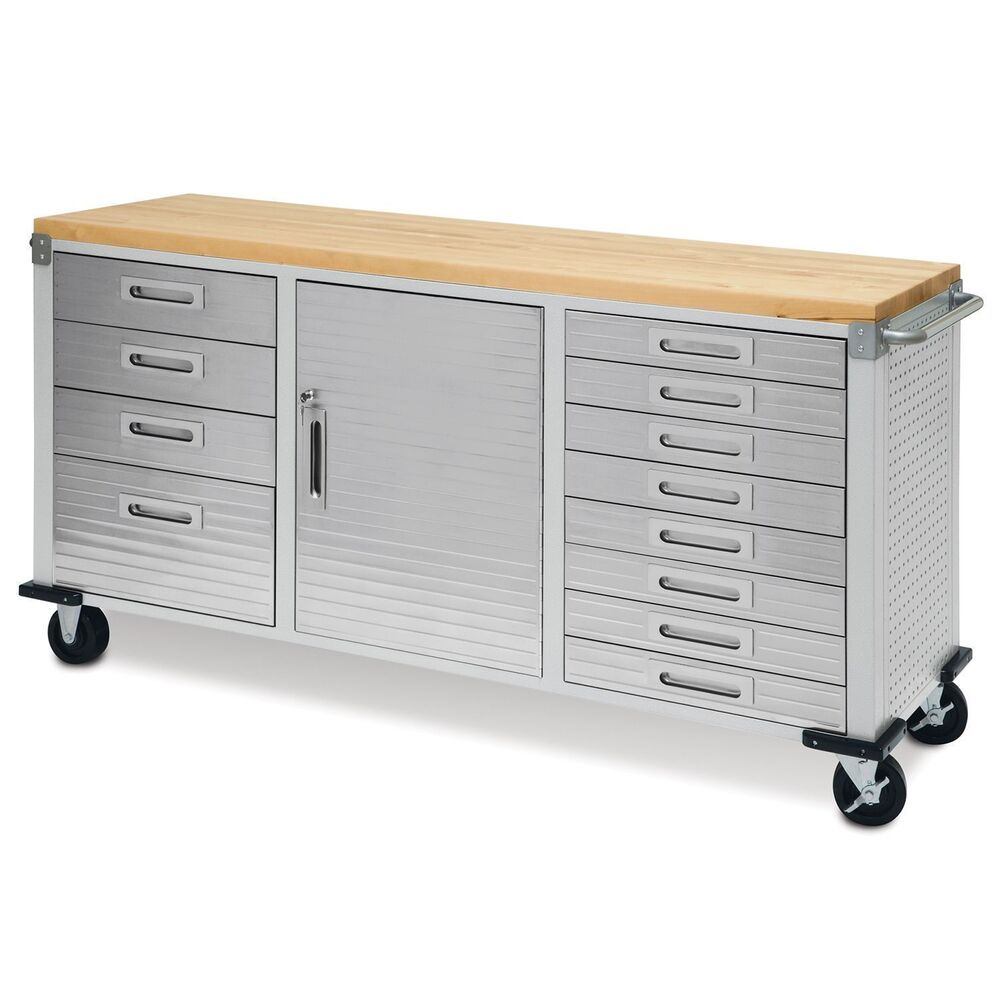 Garage Rolling Metal Steel Tool Box Storage Cabinet