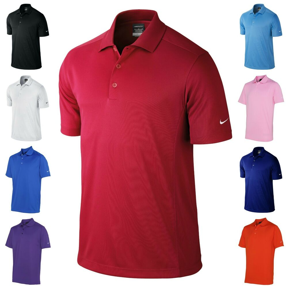Mens Nike Golf Polo Shirt Dri-Fit Short Sleeves Tee Top | eBay