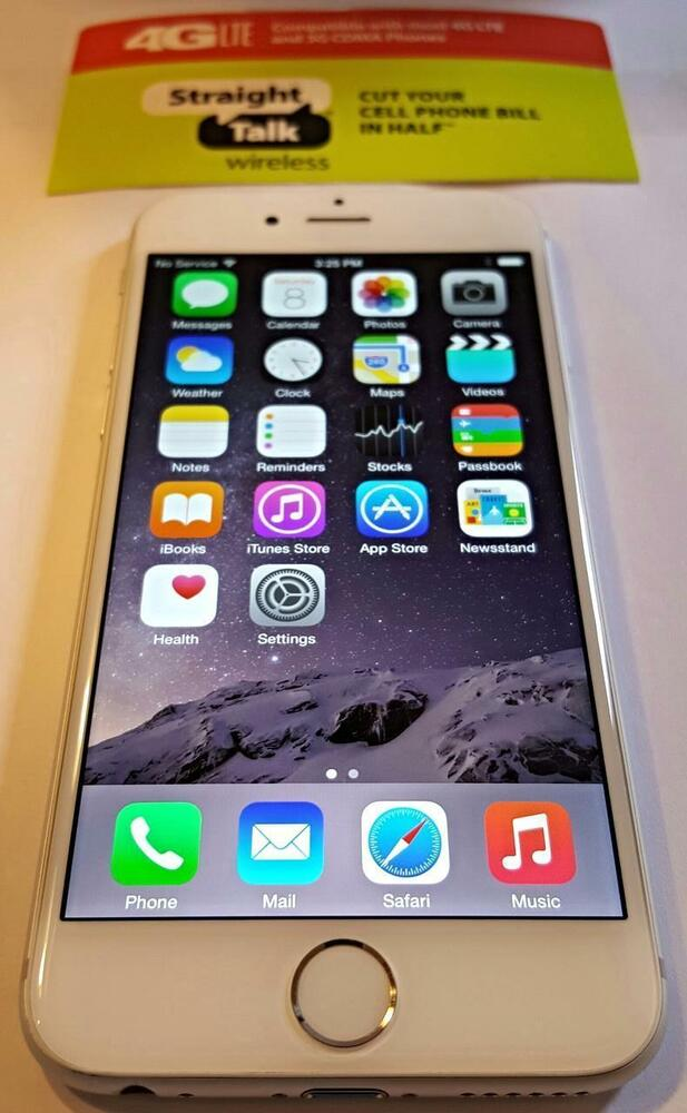 straight talk iphone 6 talk apple iphone 6 white 16gb 4g lte att 16204