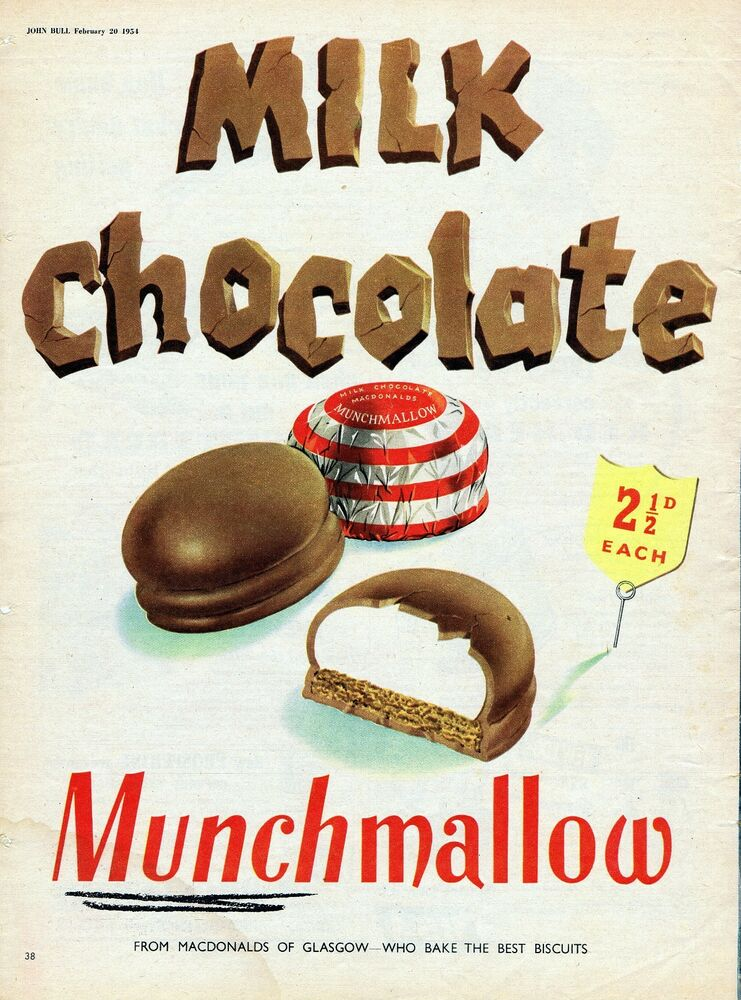 Vintage Food Advertising poster A4 RE PRINT Milk Chocolate ...