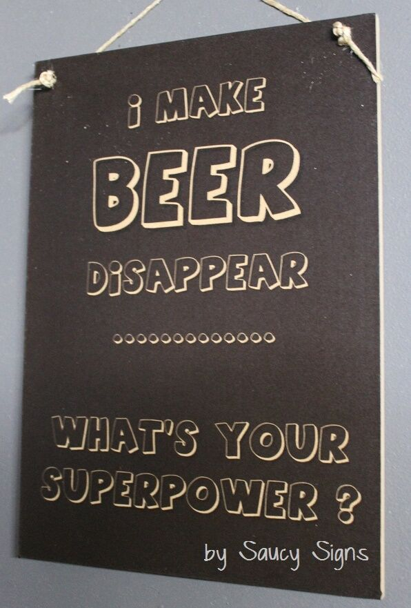 Wooden Man Cave Signs Australia : Beer disappear cute bar pub man woman cave rustic wooden