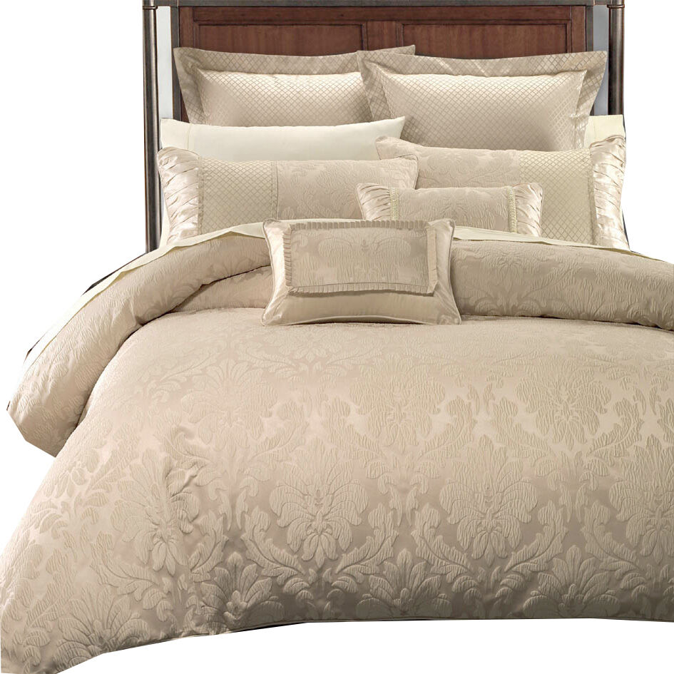 Super Soft Warm Jacquard Full Queen Sara Duvet Cover