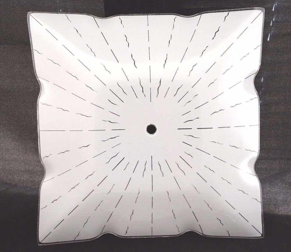 """Square Light Fixtures: NEW Vintage 14"""" SQUARE Glass CEILING Light Fixture SHADE"""