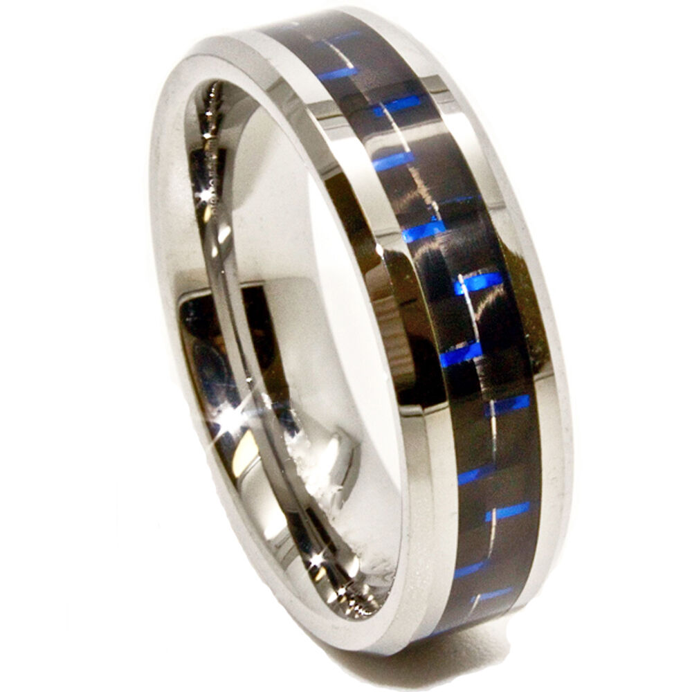 6mm Black & Blue Carbon Fiber Inlay Tungsten Carbide. Jewellery Wedding Rings. 2pc Wedding Rings. Do Amore Engagement Rings. 2 Ct Three Stone Rings. Raised Engagement Rings. Eye Rings. Princess Diaries Engagement Rings. Large Amethyst Engagement Rings
