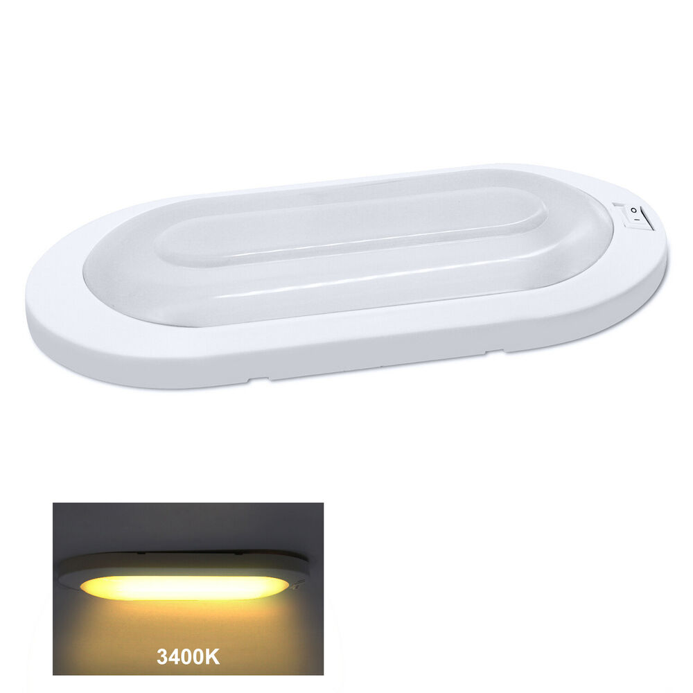 rv led 470 lumen 12v camper trailer ceiling interior lighting pancake ebay. Black Bedroom Furniture Sets. Home Design Ideas