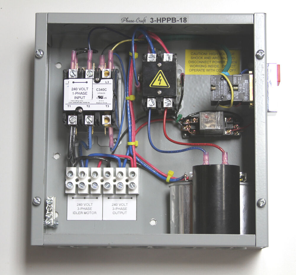 3 Hp Rotary Phase Converter Control Panel Make Your Own