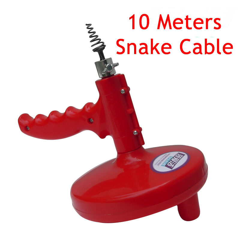 sink pipe drain cleaner unblocker auger unblock plunger with 10m snake cable new ebay. Black Bedroom Furniture Sets. Home Design Ideas