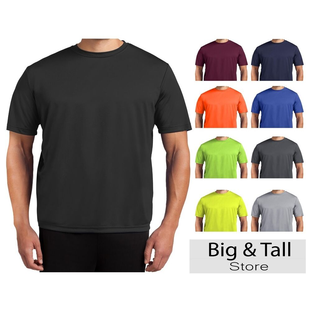 Big tall men 39 s moisture wicking performance t shirt 3xl for What is a performance t shirt