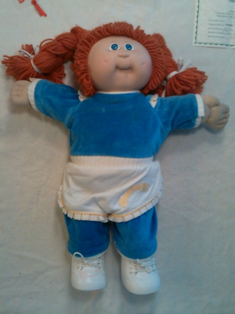 Vintage cabbage patch doll with birth certificate and clothing 1983 with bonus ebay for Cabbage patch doll birth certificate