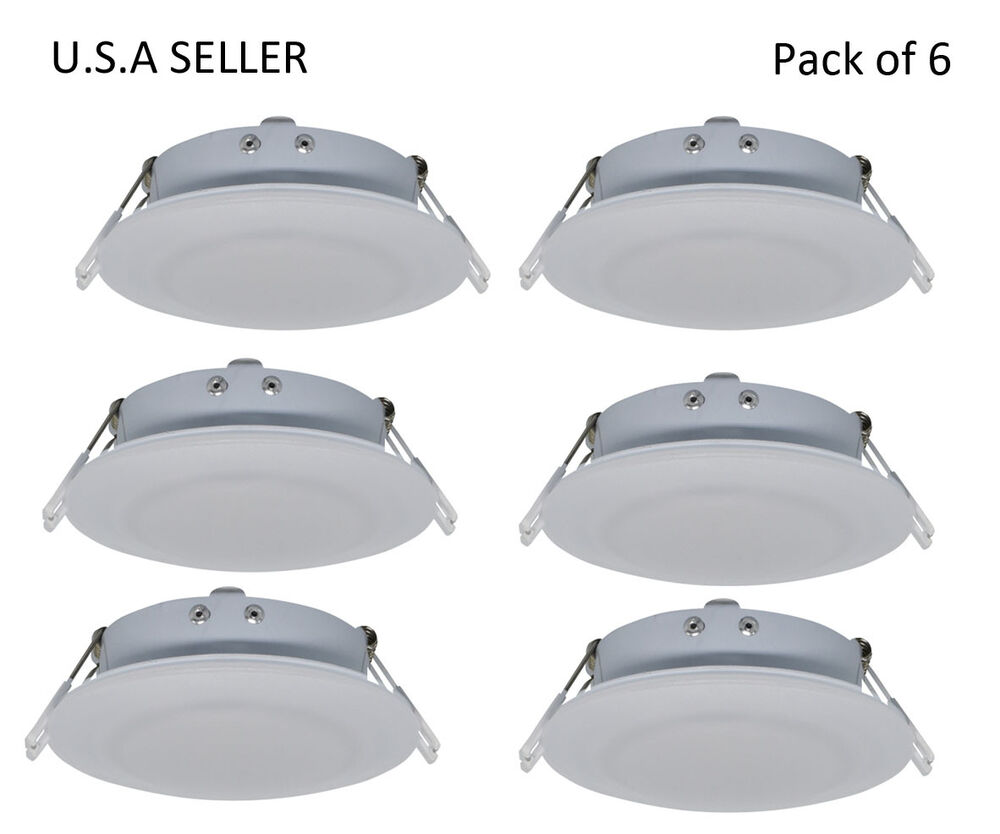 Details about facon 6pcs rv led 4 5inch 12v recessed interior ceiling down lighting fixture