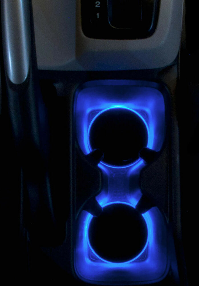 Led Cup Holder Light Insert Blue Leds Fits 2012 2015 Honda Civic Custom Mod Ebay