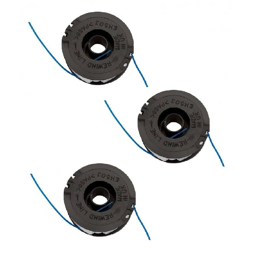 3 x Trimmer Strimmer Replacement Spool & line For Qualcast GT2826 ...