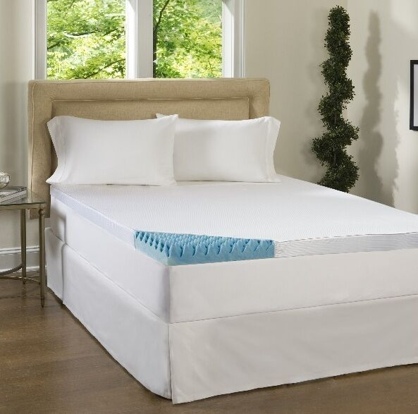 Beautyrest 4 inch gel memory foam mattress topper pad w cover memoryfoam bed ebay 4 memory foam mattress topper