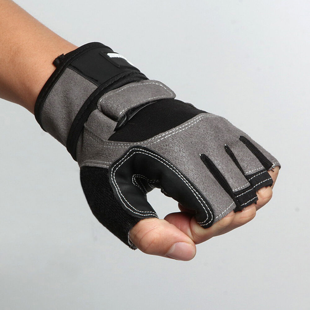 Weight Lifting Gym Gloves Training Fitness Wrist Wrap: Weight Lifting Gym Gloves BodyBuilding Training Fitness