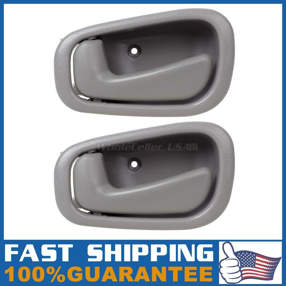 2 for 1998 2002 toyota corolla gray interior front rear Toyota corolla door handle interior