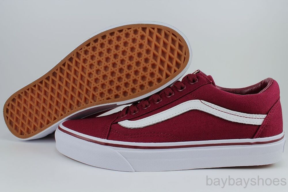 vans old skool cordovan red white low canvas classic skate. Black Bedroom Furniture Sets. Home Design Ideas
