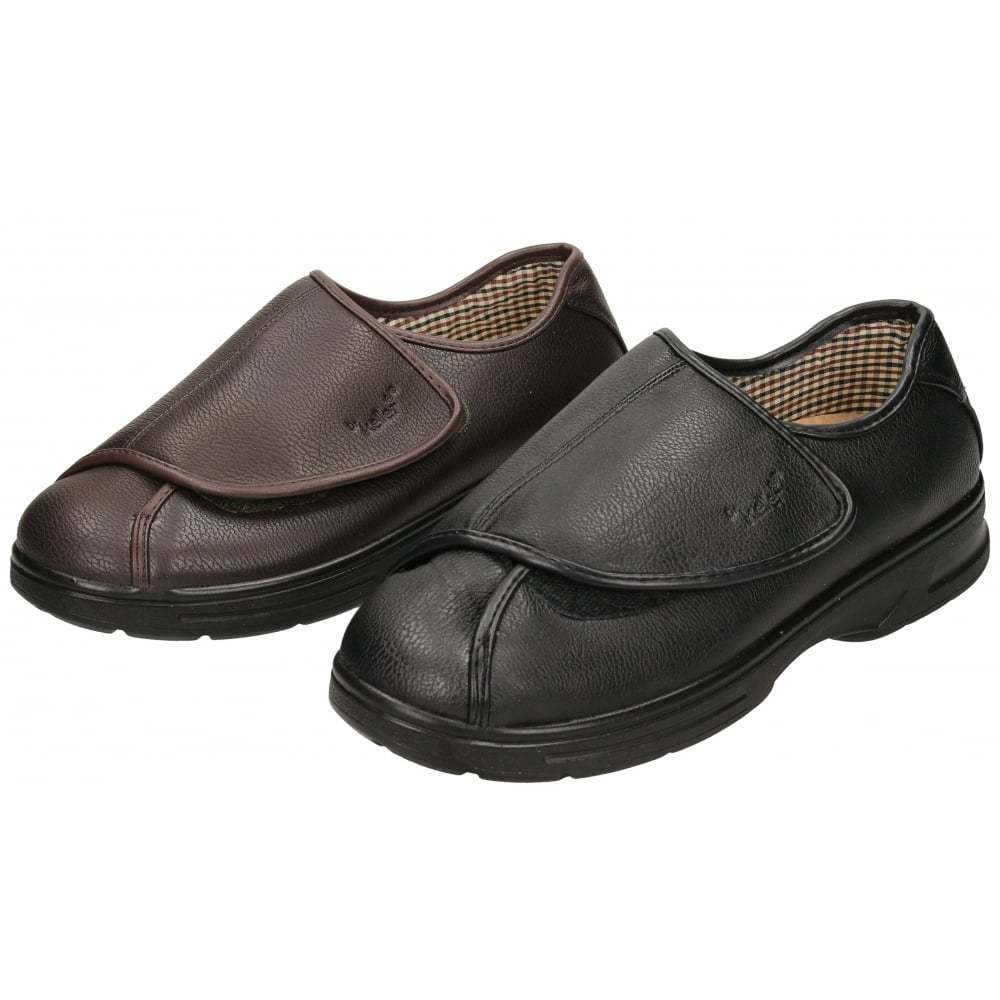 Mens Extra Wide Black Shoes