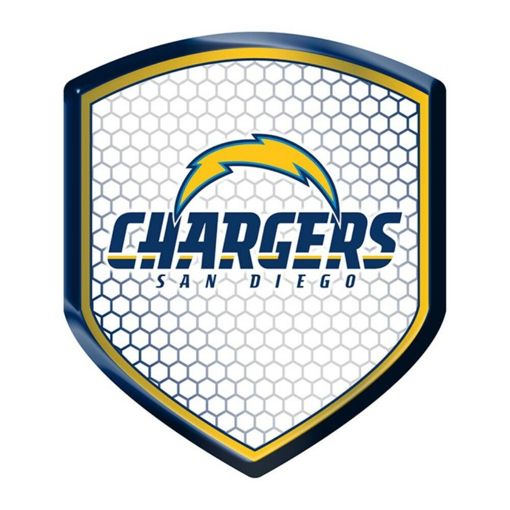 San Diego Chargers Nfl Licensed Team Logo Shield Reflector
